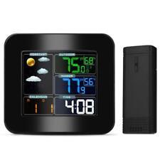 Station Météo LCD Sans Fil Thermomètre Température Humidité Intérieur Extérieur