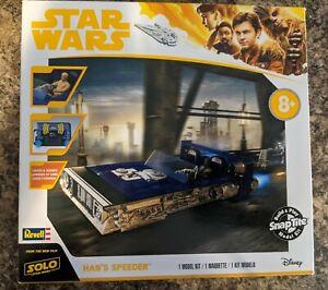 Revell Star Wars Han Solo Speeder Snap-Tite Model Kit #85-1677 Light & Sound NIB