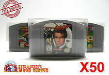 50x NINTENDO 64 CARTRIDGE - CLEAR PROTECTIVE GAME BOX SLEEVE CASE - FREE SHIP!