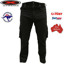 *FREE POSTAGE* MENS MOTORBIKE MADE WITH KEVLAR® CARGO JEANS WITH SIZES & COLORS