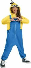 Minions The Rise Of Gru Oversized Hooded One Piece Kids Costume Jumpsuit SM-LG