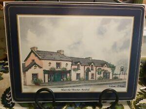 "6 Pimpernel 12"" x 9"" Cork Backed Placemats-Irish Heritage Series Irish pubs"
