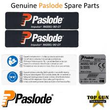 Paslode Label Sticker Decal Set Kit IM350