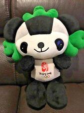 2008 OLYMPIC GAMES BEIJING PLUSH TOY 30cm MASCOT GREEN  panda BEIJING  FREE POST