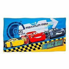 CARS Plush Pool Beach Towel Disney Store Lightning McQueen Jackson Storm Cruz Ra