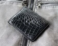 GENUINE CROCODILE BELLY SKIN LEATHER BIFOLD WALLET CW0016-BK