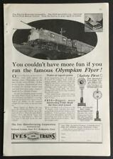 1925 Ives Electric Trains Series R Print AD Full Page