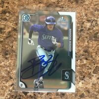Braden Bishop Signed 2015 Bowman Draft Chrome Auto Rc Seattle Mariners