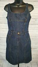 MODA INTERNATIONAL Blue Denim Spaghetti Strap  Pencil Dress Sz 8 #1511