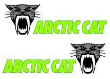 "2 ARCTIC CAT SaborTooth 28"" Vinyl Truck Decals Snowmobile Sled Trailer Graphics"
