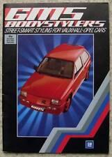 GMS VAUXHALL OPEL BODY STYLING Sales Brochure 1985 CHEVETTE Ascona MANTA Nova ++