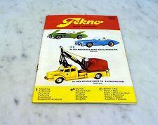 Tekno Modellauto und Modellflugzeugkatalog Ausgabe 30, 60iger Jahre