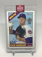 2019 Topps Archives Zack Wheeler 2015 Topps Heritage Autograph Buyback Mets