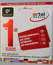 ortel Mobile Prepaid Sim - Registriert Aktiviert & Freigeschaltet