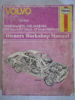 Volvo 140 Series 142 144 145 1966 to 1974 Haynes Owners Workshop Manual