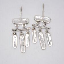 RLM Robert Lee Morris Soho drop hoop dangle vintage silver plated earrings