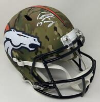 PEYTON MANNING Autographed Broncos Speed Full Size Camo Helmet FANATICS