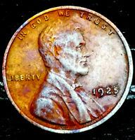 "1925 P Lincoln Wheat Penny Cent- ""Beautiful Toning"" SUPERB CLOSELY UNC. #00"