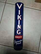 Vintage 1960's Viking Snuff Chewing Tobacco Can Dispenser Metal Gas Station Sign