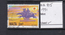 Used Single Maltese Stamps (1964-Now)