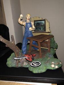 Eminem Action Figure & Diorama Rare Art Asylum USED - Slim Shady chainsaw