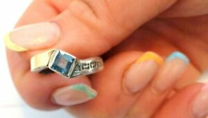 gold plated Vintage Antique stearling silver 925 jewelry ring size 17