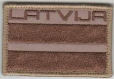 LATVIA. Latvian Army NATIONAL FLAG & TITLE PATCH SUBDUED