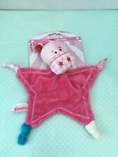 Tiamo Giraffe Cow Comforter Pink Star Rattle Head