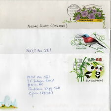 SINGAPORE  ten fine commercially used Postal Stationery Envelopes