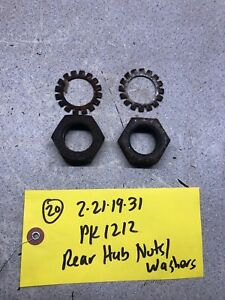 1982 Power King 1212 Tractor Rear axle hub nuts and washers
