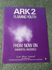 FLAMING YOUTH ark 2 From now on (immortal invisible) 1960s SHEET MUSIC!