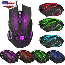 PRO 5500DPI 6 Buttons LED Optical USB Wired Gaming Mouse Mice For PC Laptop New