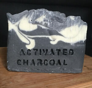 3 x Handmade Natural Organic Activated Charcoal Soap