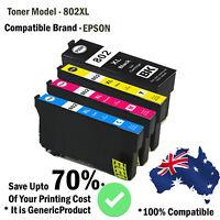 BYMC Generic 802 XL 802XL Ink for Epson Workforce PRO WF-4720 WF-4740 WF-4745