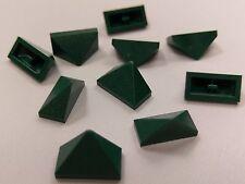 Bulk Lot Lego Part No.3048c Dark Green Slope 45 2x1 Triple, Inside Bar, Qty x 10