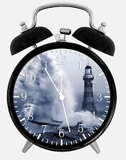 "Light House Alarm Desk Clock 3.75"" Home or Office Decor W322 Nice For Gift"