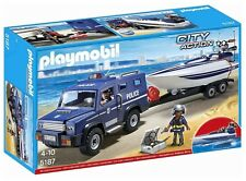 Playmobil 5187 Polizei-Truck, Speedboot & Unterwassermotor Neu & Ovp City Action