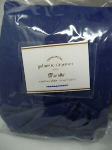 Pottery Barn Palmetto Outdoor Occasional Chair cover  Blue