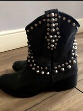 Amazing Steve Madden Leather Stud Boots Size 3