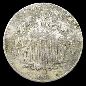 1873 Shield Nickel ---- Nice Details Type Coin ---- #W243