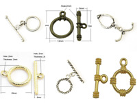 Rare Flair Jewellery Making Crafting Toggle Clasp Bundle - 14 Set in Total