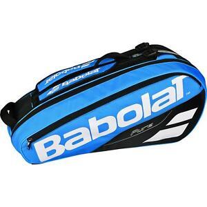 BABOLAT PURE DRIVE SIX RACKET TENNIS  BAG BLUE  / BLACK  FREE TRACKED 48 POST UK