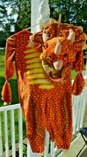 Triceratops Orange Dinosaur Costume Fits 1 - 4 Years Toddler Toys r Us With Head