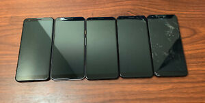 Lot of 5 Google Pixel 3a XL - 64GB - Black & White (Unlocked) - READ DESCRIPTION
