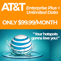AT&T TRULY UNLIMITED 4G LTE HOTSPOT DATA PLAN $99.99/ MONTH UNTHROTTLED SIM CARD