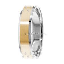 14K SOLID GOLD MENS WOMENS WEDDING BANDS RINGS BEVELED EDGE WEDDING RING BAND
