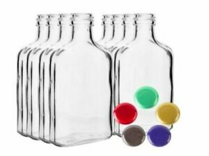 GLASS Bottles 100ml, 200ml - Choice Color Screw Caps Home Brew Fast P&P UK