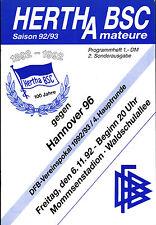 DFB-Pokal 92/93 Hertha BSC Amateure - Hannover 96, 06.11.1992