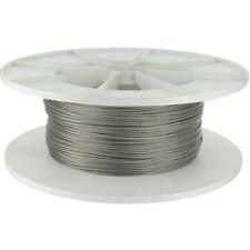 Câble acier inox - Bobine de 100 m - Diamètre 2 mm