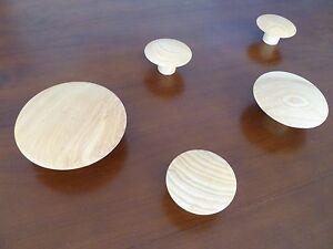 Scandinavian Coat Hooks Natural Timber Wall Art Decor - MEGA Wooden Hanger Set